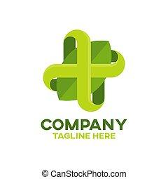 logo, modern, natürlich, kreuz, apotheke