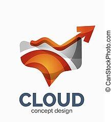 logo, modern, wolke