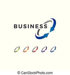 logo, moderne, finance, business