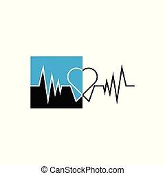 logo, monde médical, conception
