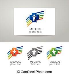 logo, monde médical, ensemble
