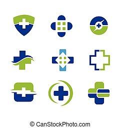 logo, monde médical, vecteur, conception, gabarit