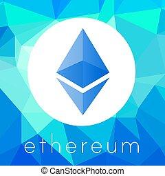 logo, monnaie, vecteur, cripto, ethereum