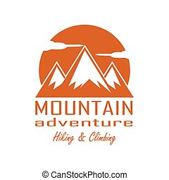 logo, montagne