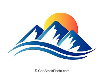 Logo mountains and sun