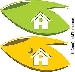 logo, natur, hjem