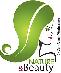 Logo nature and beauty woman
