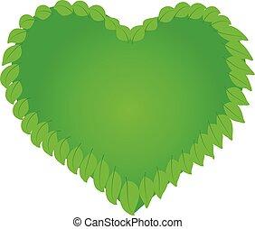 logo, nature, santé, coeur