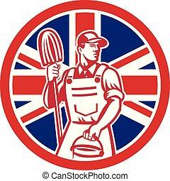 logo, nettoyeur, circ-uk-flag, lavette