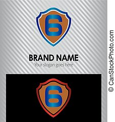 Logo number 6 company icon design