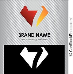Logo number 7 company icon design