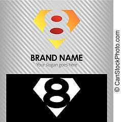 Logo number 8 company eight icon