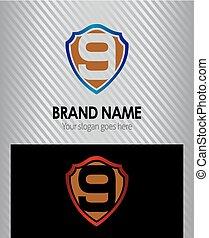 Logo number 9 company nine icon