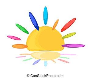 Logo of abstract sun.