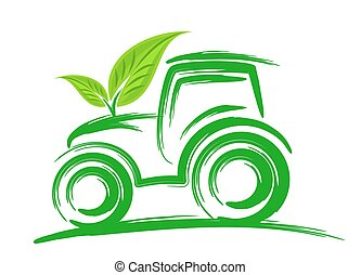 Logo of an eco friendly tractor.