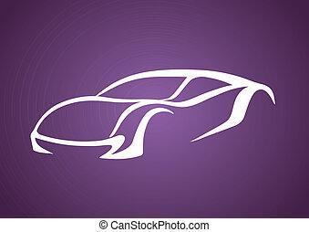 Logo of auto over purple
