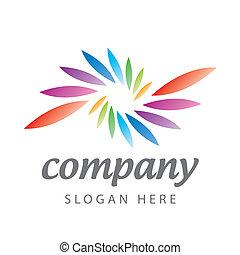logo of colored petals