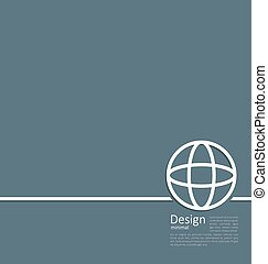 Logo of earth or globe, or network structure, minimal flat style line