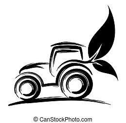 Logo of eco friendly tractor.