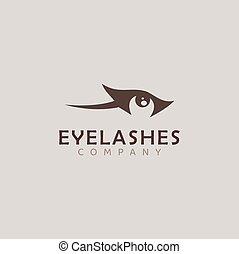 Logo of eyelashes