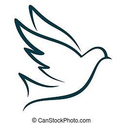 Logo of flying bird.