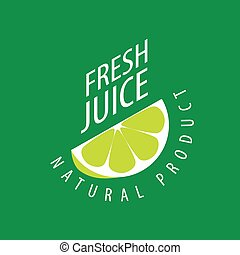 logo of fresh juice - vector icon fresh juice from natural ...