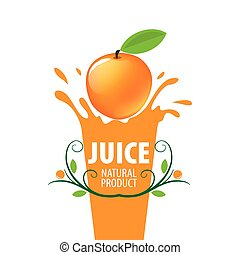 logo of fresh juice - vector icon fresh juice from natural...