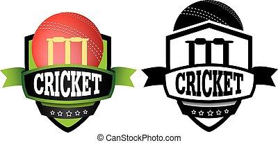 logo, of, grahic, ontwerp, voor, een, cricket club