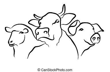 Logo of hoofed animals.