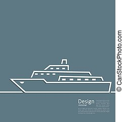 Logo of ship in minimal flat style line