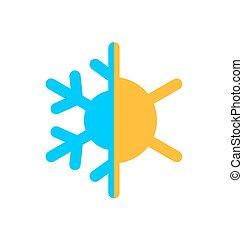 Logo of symbol climate balance, isolated on white background