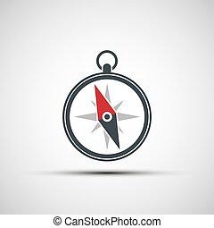 Logo of the compass arrow.
