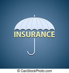 umbrella and the word insurance.