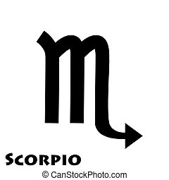 Logo of the zodiac sign Scorpio in vector on a white background.