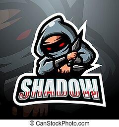 logo, ombre, conception, esport, mascotte