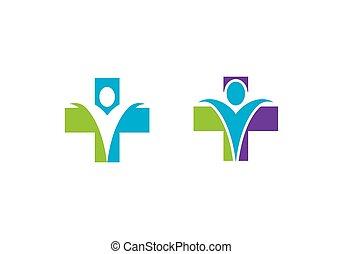 logo, omsorg, sundhed, tegn