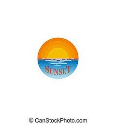 logo, ondergaande zon