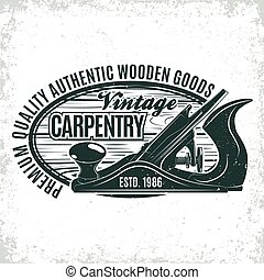 logo, ontwerp, ouderwetse