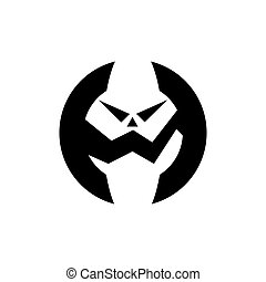 logo, ontwerp, pictogram, krijs, symbool, vector