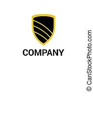 logo, ontwerp, schild