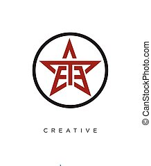 logo, ontwerp, ster, pictogram, symbool, ee, vector