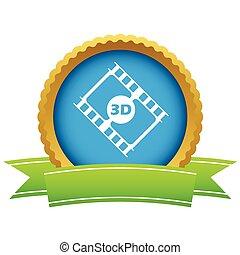 logo, or, pellicule, 3d