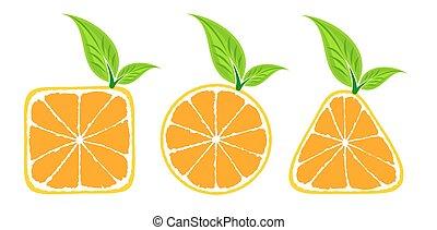 logo, oranges.