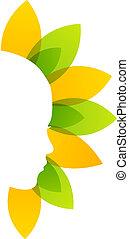 logo, organisch, beauty