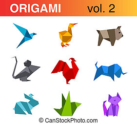 Logo Origami set 2
