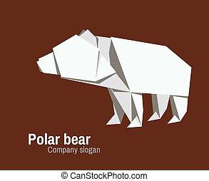logo, orvhami, ours, polaire