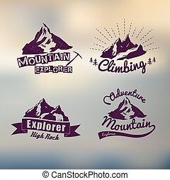 logo, ouderwetse , buiten, thema