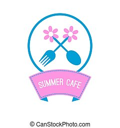 Logo outdoor summer cafe