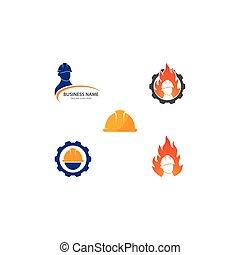logo, ouvrier