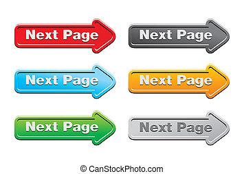 logo, página, botão, conjuntos